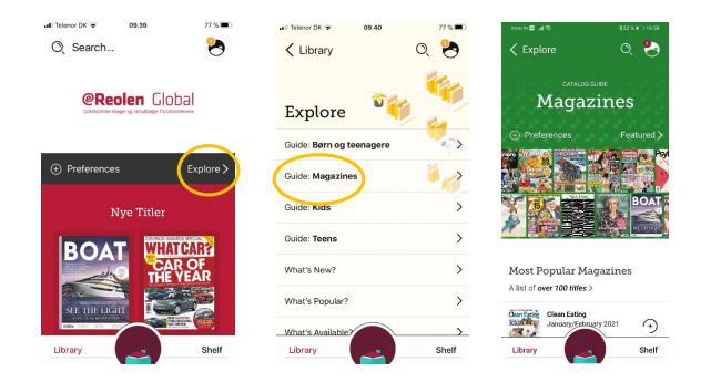 Sådan finder du magasinerne i app'en Libby