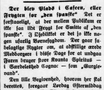 Roskilde Avis 21. oktober 1918