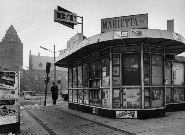 Kiosk på Stændertorvet 1970'erne-1980'erne