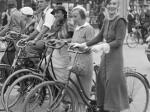 Cyklister sort/hvid foto