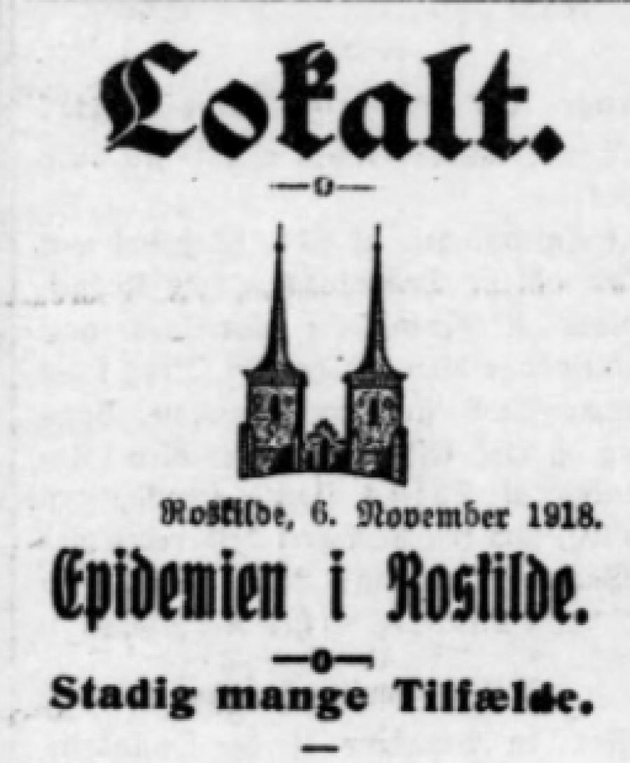 Roskilde Avis 6. november 1918