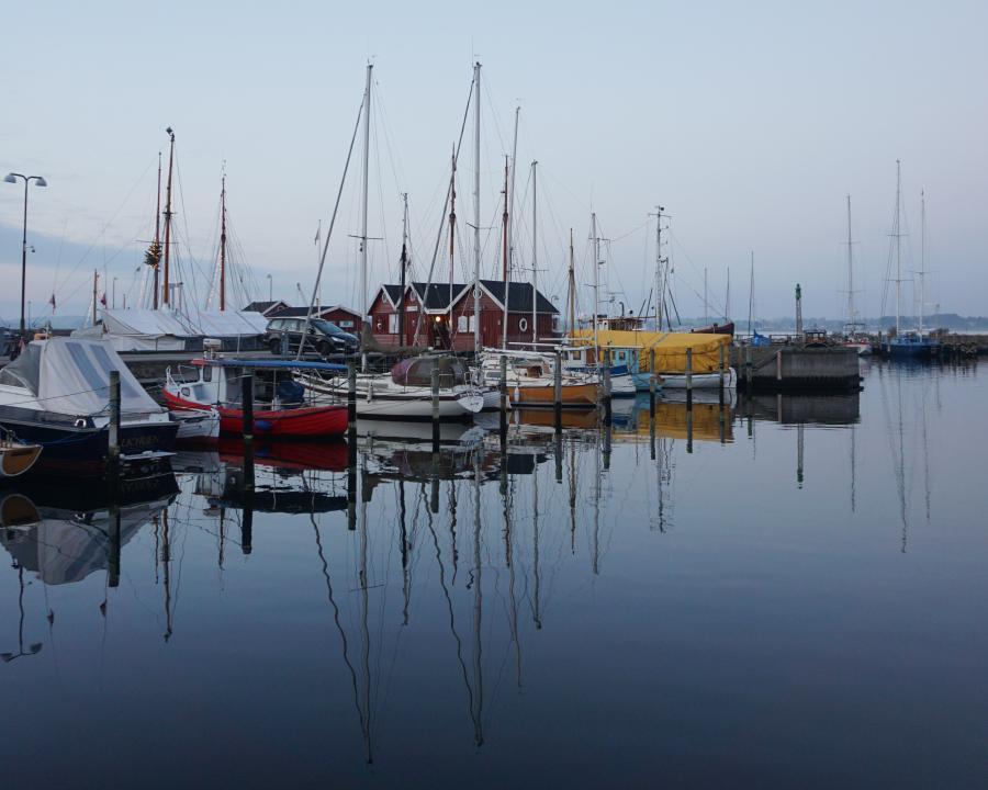 Både i Holbæk Havn