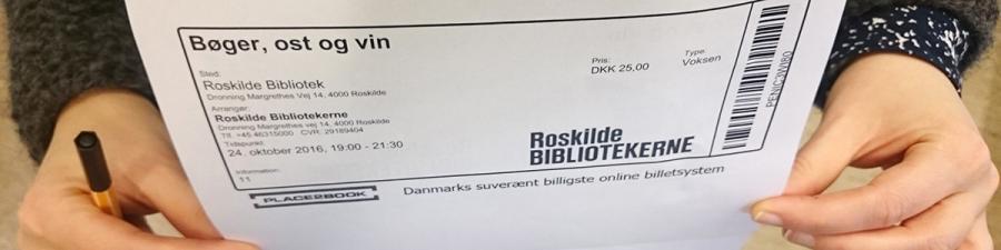 Billet til arrangement