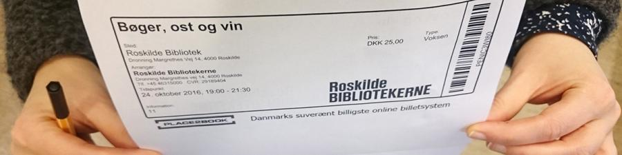 Billet til arrangement