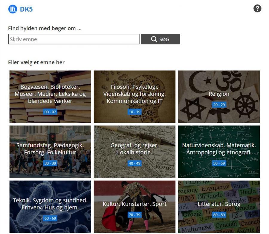 DK5 sidens søgefunktion