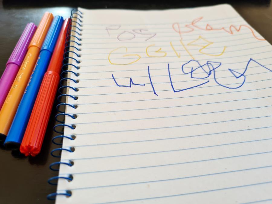 Få dit barn til at skrive