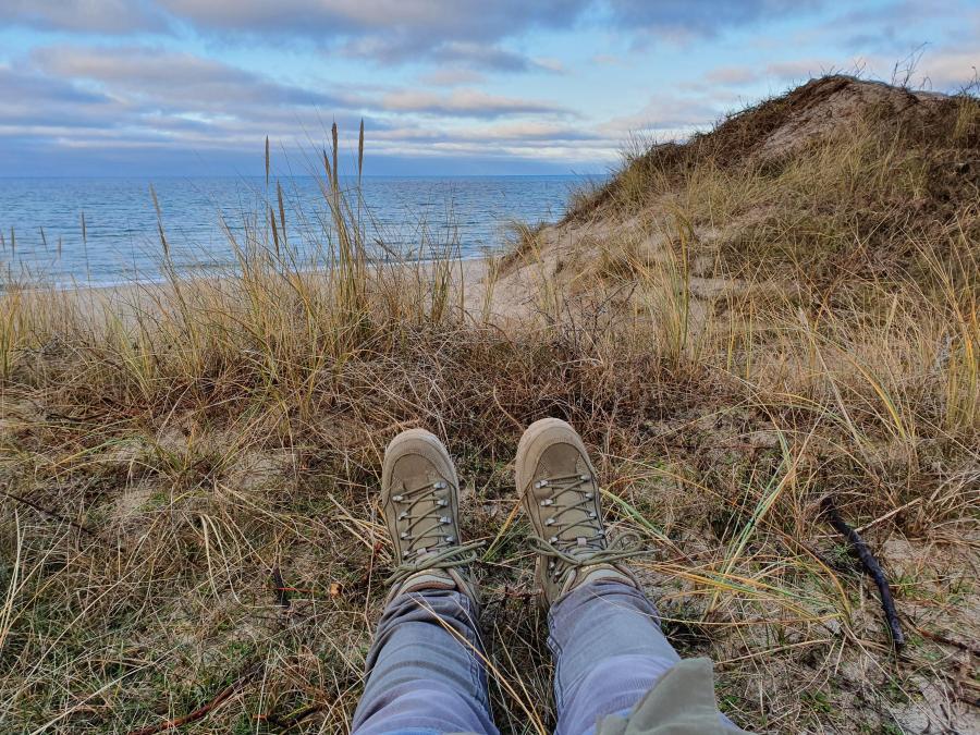 Pause i klitterne