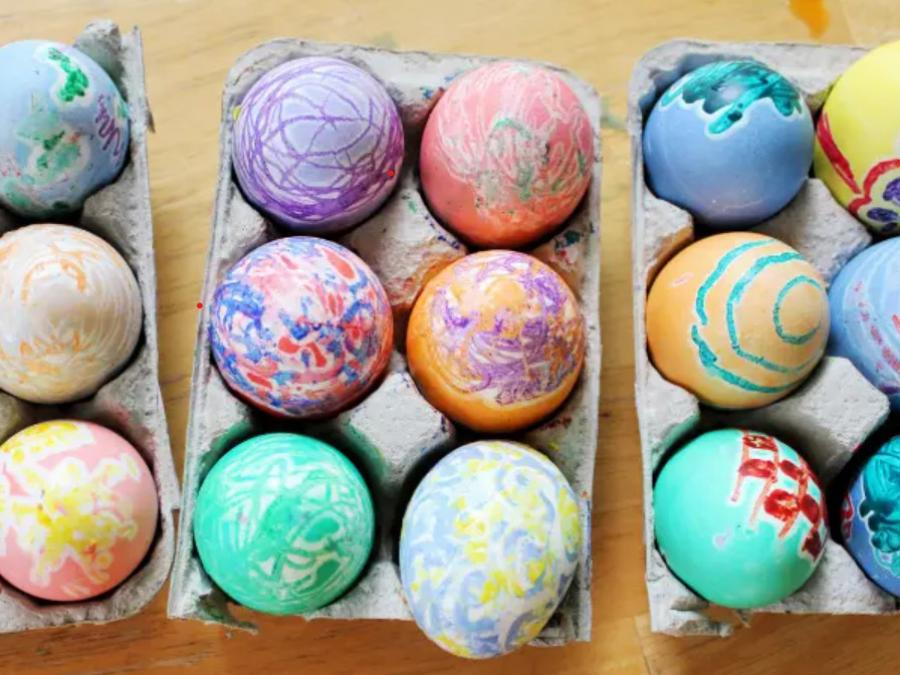 Flotte malede påskeæg
